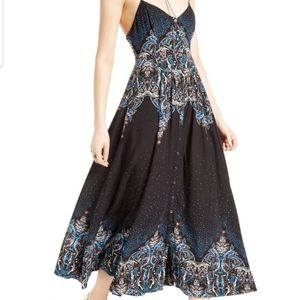 Free People Be My Baby Boho Chic Maxi Dress